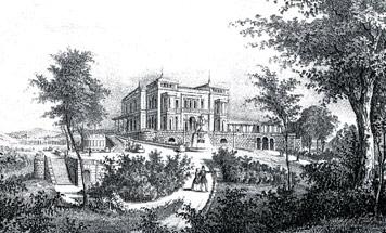 Blick auf die Südostecke der Villa Berg, 1852; Sammlung Gohl.1184964963