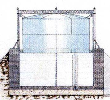 Auch in Hohenheim hat es einst ein eigenes Gaswerk gegeben. Zeichnung: Universitätsarchiv Hohenheim.