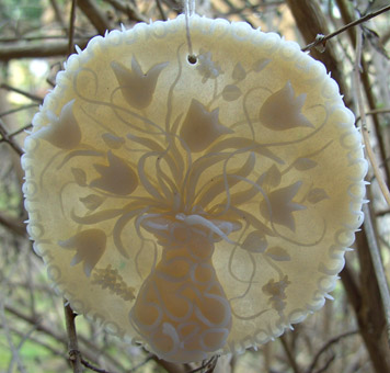 Plastilina-Bilder: Blumen transparent