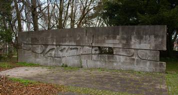 Mahnmal von Otto Baum hinter der Cotta-Schule im Raitelsberg