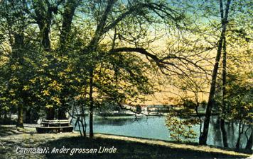 Das Leuze-Bad um 1850 (Sammlung Gohl)