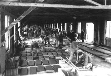 """Das von 1934 bis 1939 bestehende Pflichtarbeitslager """"Plattenwerk"""". (Fotografie)"""