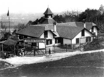 Das 1911 eröffnete Arbeiterwaldheim Gaisburg. (Fotografie, um 1920)
