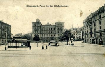 Stöckachschule um 1900 (Slg. Unglaub)