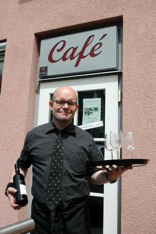 Kalle Schlippes soll das Gesicht des Café im MUSE-O werden. Foto: aia