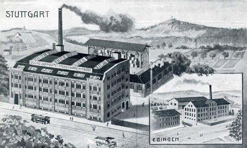 Textilfabrik Schmidt, Gesamtansicht 1910