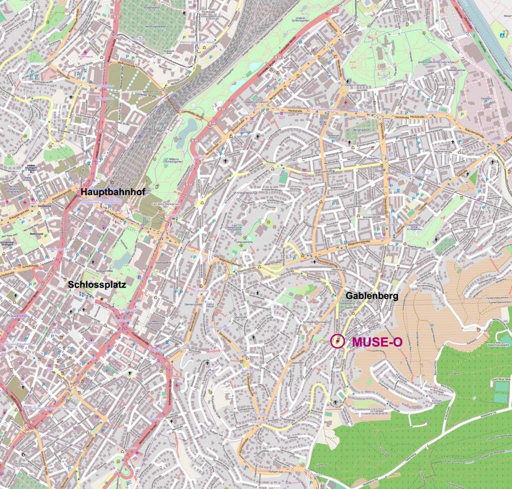 Karte von OpenStreetMap, Lizenz CC-BY-SA