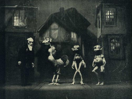 Deininger, Faust und die Dämonen, 1931, aus Theatre Arts