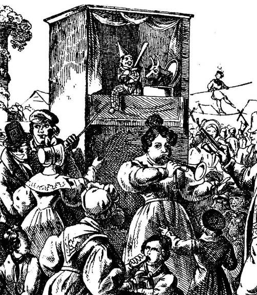 Kasperle auf Volksfest, 1835