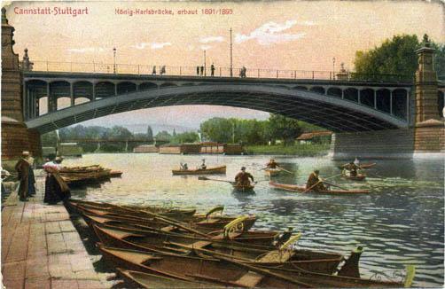 Ruderboote an König-Karls-Brücke, Slg. MUSE-O