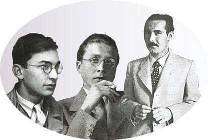Hermann Lenz, Thaddäus Troll und Eugen Gottlob Winkler