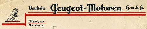 Der Briefkopf des gesuchten Gaisburger Motorenbauers. Sammlung Gohl