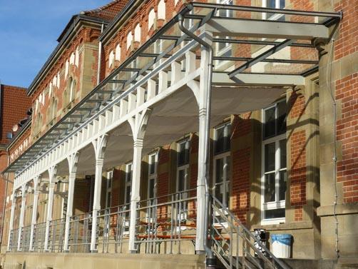 Die Exkursion führt auch ins ehemalige Garnisonslazarett. Foto: Kleinbeck