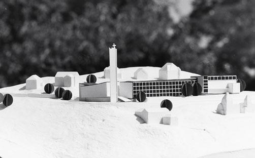 Modell der Architekten Gonser, wohl 1965. Archiv Fam. Gonser