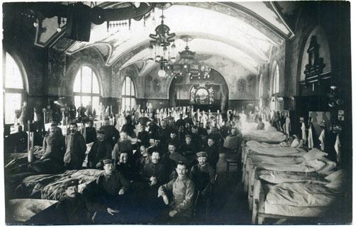 Auch in der Brauereigaststätte Dinkelacker war ein Lazarett eingerichtet. Sammlung Gohl