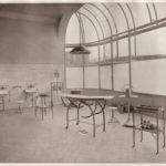 Blick in den Operationssaal des Lazaretts an der Teckstraße. Sammlung Gohl